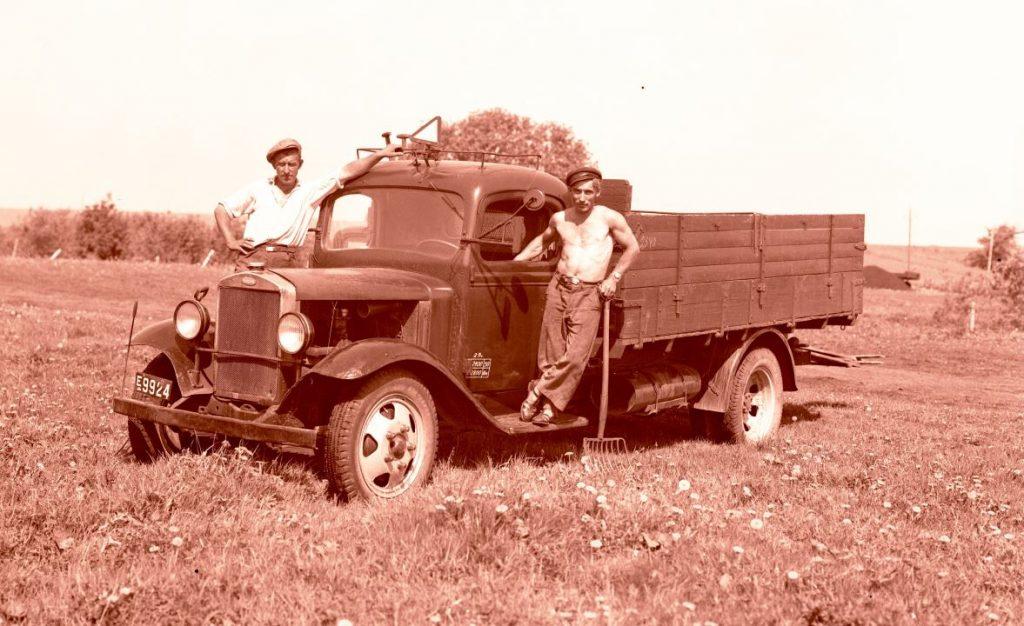 3.4 Volvo 1932 lastbil type LV 73 med registreringsnummer E 9924, Sorø amt. Er det en Borup vognmand ?