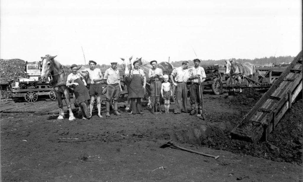 7.11  Formbrændselsfabrikken Danabrik, Verup. Producerede tørv fra 1943-50. Kilde arkiv.dk / Arkivet i Dianalund.