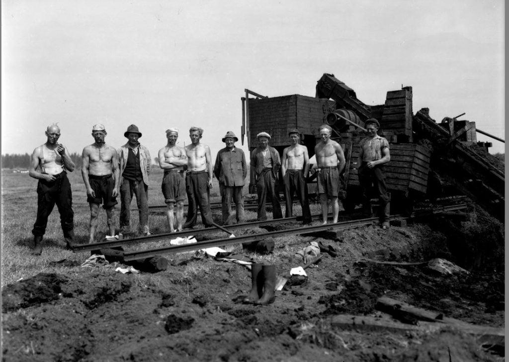 7.14  Formbrændselfabrikken Danabrik, Verup. Producerede tørv fra 1943-50. Kilde arkiv.dk / Arkivet i Dianalund.