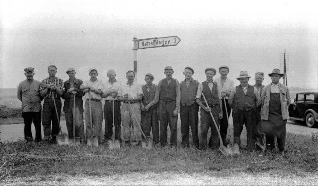 24.9  Vejarbejde Brødeskovvej udenfor Hillerød.