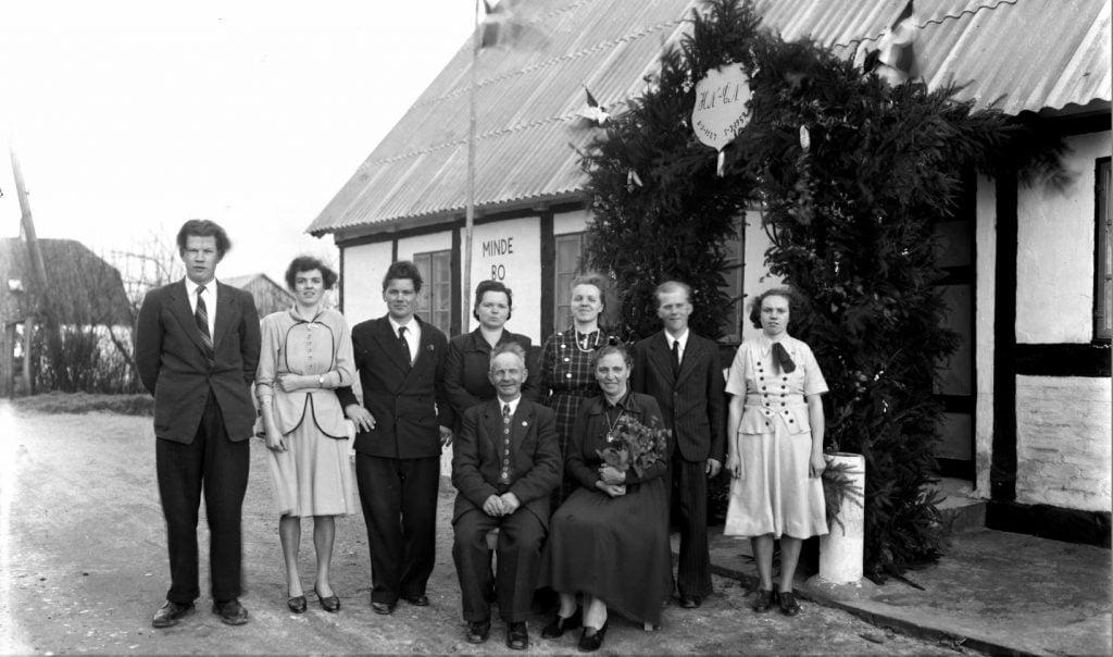 29.17  Mindebo  Sølvbryllup 5 marts 1952  HN og CN
