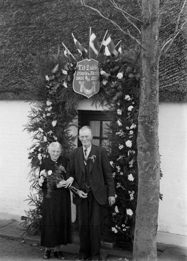 41.12  Guldbryllup 8. november 1951, Marie og Martin