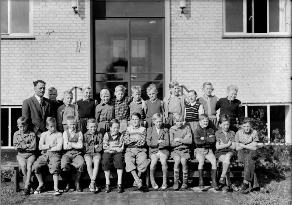 50.10  Borup skole, 1954,Lærer Fritz Rathmann