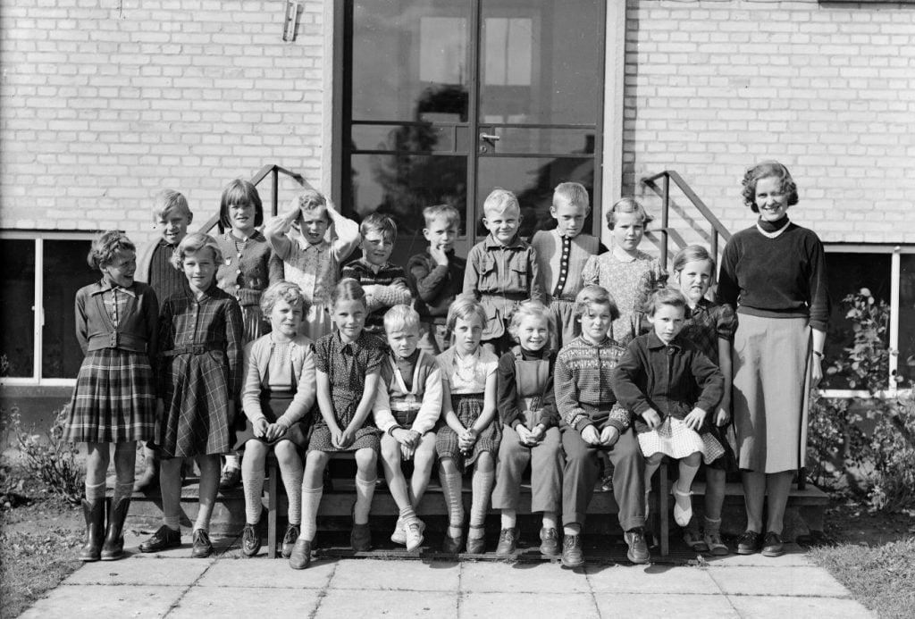 50.2  Borup skole, år 1954 ilfg. Lis Nielsen
