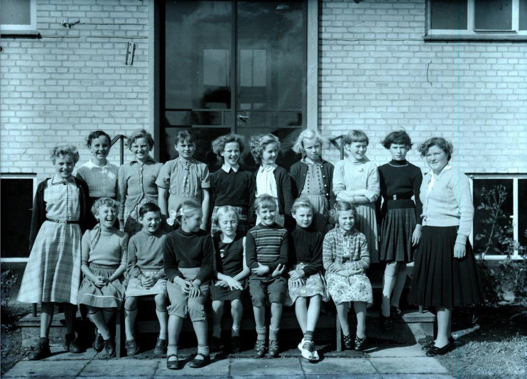 50.5  Borup skole, 1954 Lærer frk. Svendsen