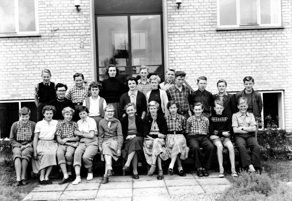 50.6  Borup skole, år 1954, Lærer Gudrun Nielsen