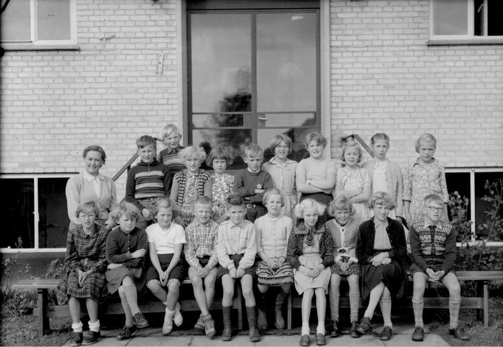 50.8  Borup skole,1954,Lærer Fru Christensen