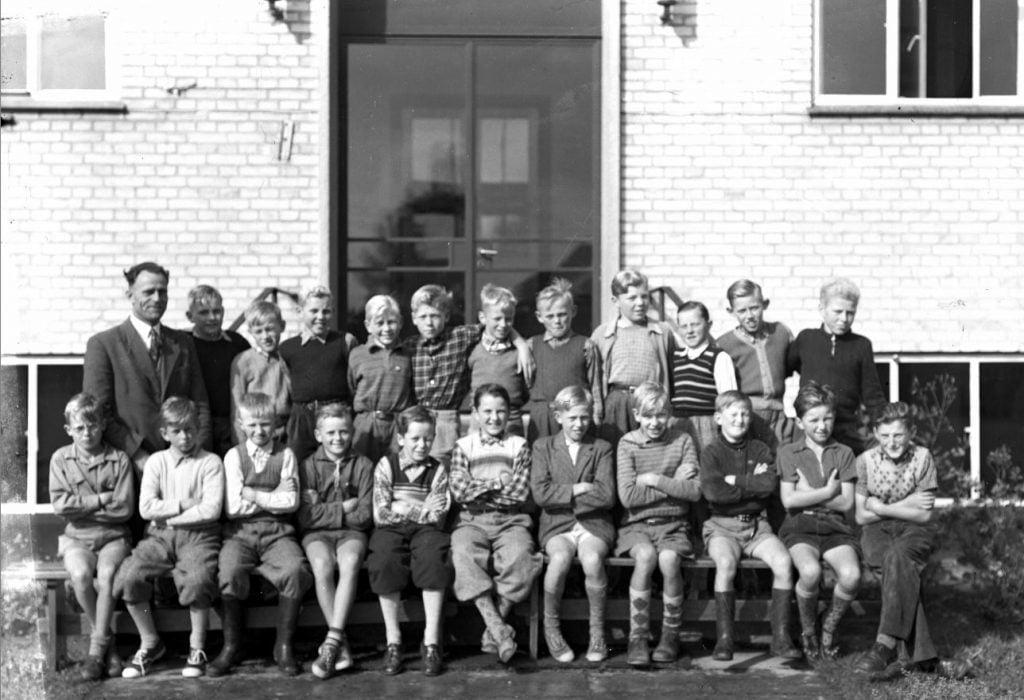 56.3  Borup skole, år 1954 Lærer Fritz Rathmann