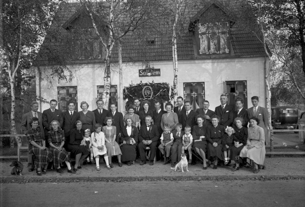 57.10  Guldbryllup 15.oktober 1949  Villa Solhjem.