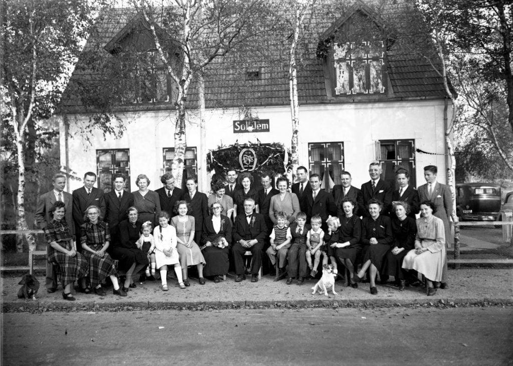 57.9  Guldbryllup 15.oktober 1949  Villa Solhjem.