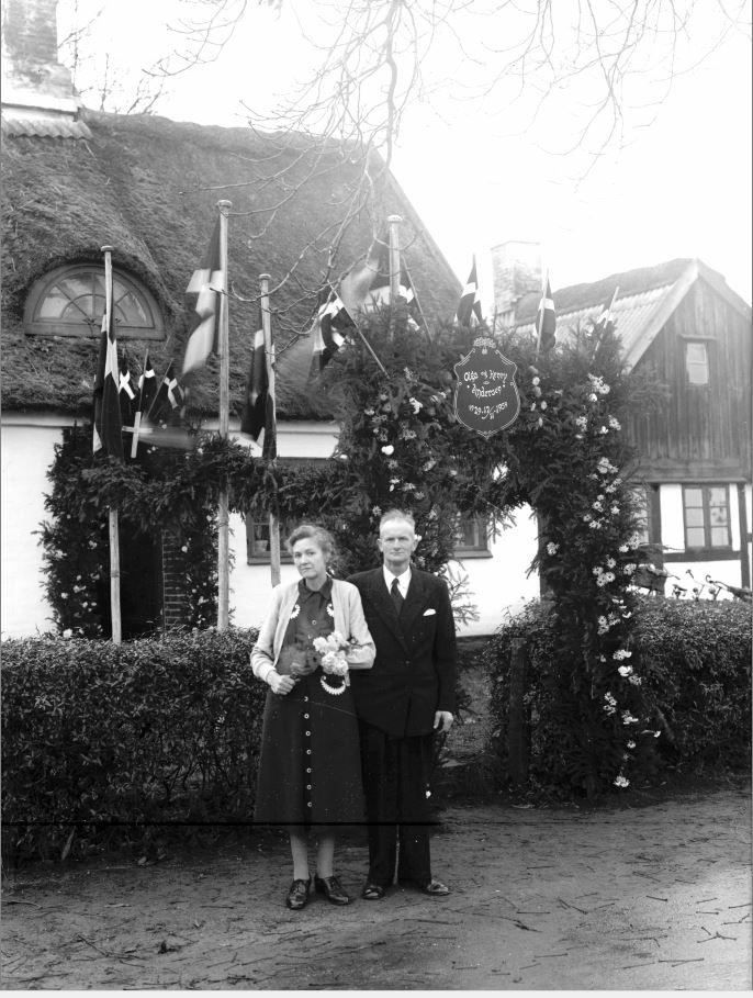 65.17  Sølvbryllup 17. november 1954  Olga og Henry Andersen.